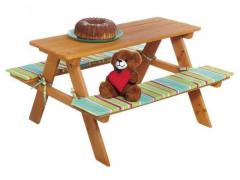 Children's folding table with benches