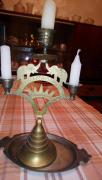 Elegant candle holder with elephants.India. Retro