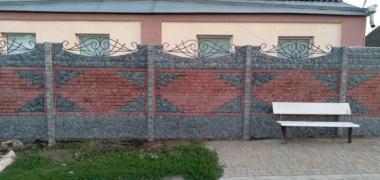 Евро заборы глянцевые, цветные (мрамор из бетона)