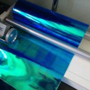 Film for tinting headlights blue chameleon