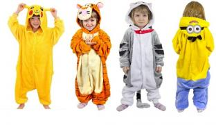 Kigurumi pajamas for boys. Affordable prices