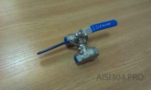 Кран нержавіючий муфтовий Ду 15 (1/2) AISI 304