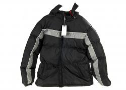 Men's winter jacket, men's, black gray