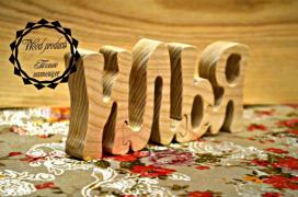 Original letters-puzzles made of wood, handmade