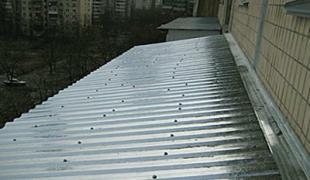 Ремонт крыши балкона последних этажей