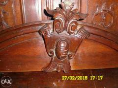 Sideboard in oak, carved, antique, imported from Germany