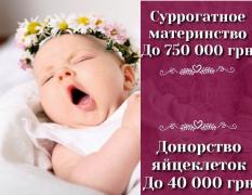 "To become a surrogate mother Melitopol. ""SURmamka"""
